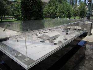 model of Villa Grimaldi property