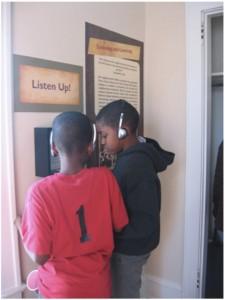 boys with headphones