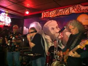 Bryan Powell (left) and Rough Draft. Fatt Matt's, Atlanta, Ga., February 22, 2013. Photo by author.