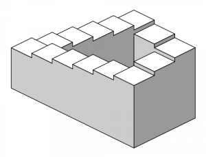 The Penrose Staircase: an illustration of a logical paradox (public domain)