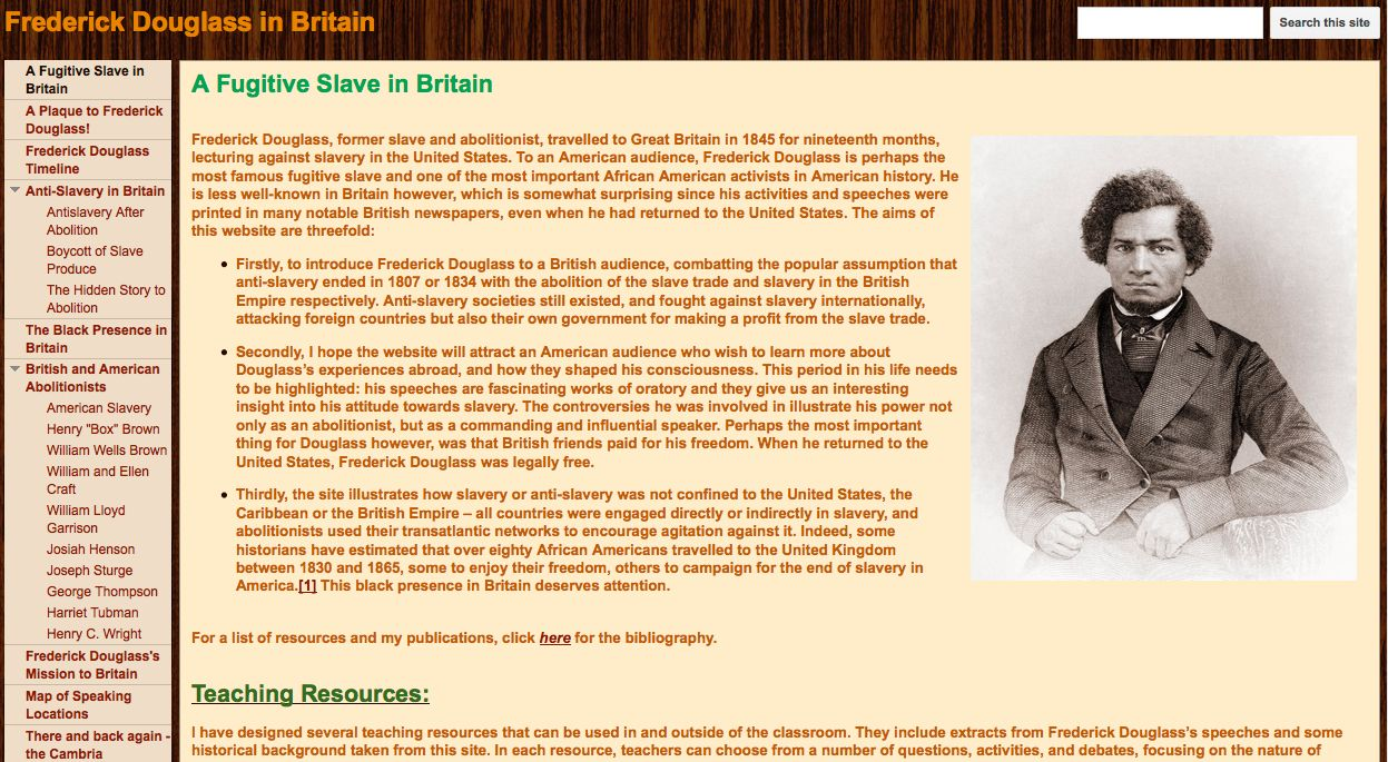 project showcase frederick douglass in britain national council