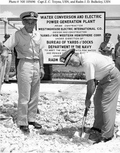 Installation of the base water conversion plant, February 1964, courtesy of the US Navy Historian's Department