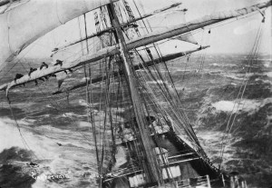 ship in heavy sea
