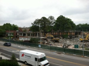 Former Decatur equalization schools being demolished, 2013. Photo by author.