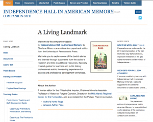 Screenshot of companion website for monograph.
