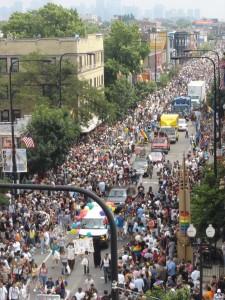 Chicago Pride Parade, 2006. Photo credit: Adam Dixon, Wikimedia Commons.