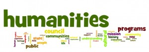 This wordle shows the most common words in state humanities council mission statements. Image credit: Mary Rizzo.