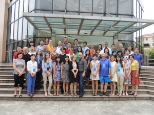 Participants gathered for a farewell photo on the final day of the seminar on the campus of Shanghai Normal University.  Photo credit: Richard Anderson