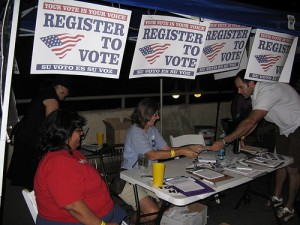 Register to Vote signs