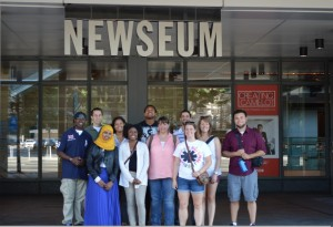 2013 Fellows a the Newseum in Washington, DC. Photo credit: Courtesy of Chris Taylor.