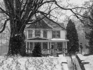 Jones House in the Snow by l. hutton