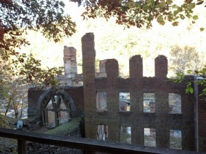 Sweetwater Creek State Park, near my new hometown of Atlanta, includes the ruins of a textile mill, destroyed by Sherman's advancing army. Photo credit: Adina Langer.
