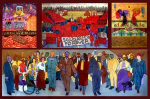 "Mike Alewitz's ""The City at the Crossroads of History"" mural was commissioned for the City Museum of New York, which has declined to display it."