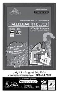 Hallelujah Street Blues program cover. Courtesy of the Horizon Theatre.