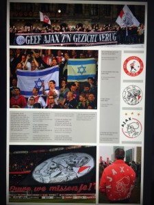 Images also communicated how Ajax fans have adopted Israeli symbols and colors. Photo credit: Kathy Shinnick