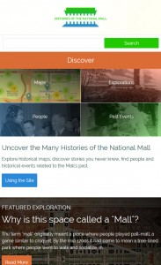 Mobile view of the site's homepage. Image credit: Center for History and New Media