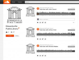 Screenshot of the SoundCloud page used for the oral history project