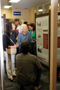 Opening of Push and Pull at the Randall Library Graduate Student Public History Gallery at University of North Carolina-Wilmington. Photo credit: Jayd Buteaux