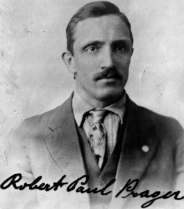 German coalminer Robert Prager was lynched in Collinsville, IL in 1918.