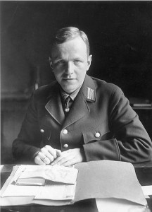 Achim Gercke (1902-1997) was appointed expert on racial matters for the NS Ministry of the Interior in 1933. He was instrumental in implementing the new racial laws 'for the restitution of the civil  service', demanding proof of 'Aryan' descent as a precondition for employment. Gercke was dismissed in 1935 on suspicion of homosexuality. From 1933, the National Socialist 'Reich Genealogical Authority' enlisted the services of professional genealogists to 'purge' the state of 'non-Aryans'. The laws of 1933 and 1935 inaugurated the NS racial policy that was to result in the segregation,deportation, and murder of the Jewish population of Germany and occupied territories. Sources: Image: Wikimedia Commons, supplied by the German Bundesarchiv, Image number 183- 2006-1009-500/CC/BY-SA Further reading:  Eric Ehrenreich, The Nazi Ancestral Proof: Genealogy, racial science, and the final  solution, Indiana University Press 2007.