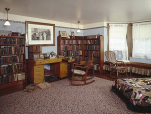 The restored Den at the Frances Willard House Museum in Evanston, IL. Photo courtesy of Leslie Schwartz Photography.