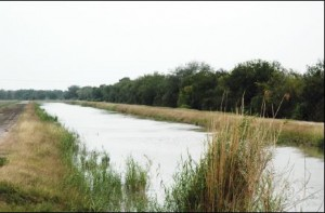 United Irrigation District Canal, Mission, Texas (photograph courtesy Texas Dept. of Transportation)