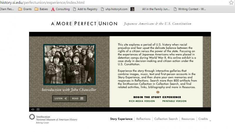 Courtesy Smithsonian Institution, http://amhistory.si.edu/perfectunion/experience/index.html