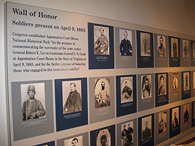 Image of Wall of Honor at Appomatox Courthouse National Historical Park. Courtesy National Park Service staff. http://www.nps.gov/apco/learn/historyculture/wall-of-honor.htm