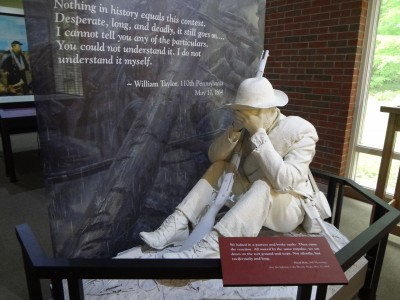 This exhibit from the Chancellorsville Visitor Center at Fredericksburg and Spotsylvania National Military Park imagines how historical documentation can inform interpretation of the Civil War. Photo credit: Joan M. Zenzen