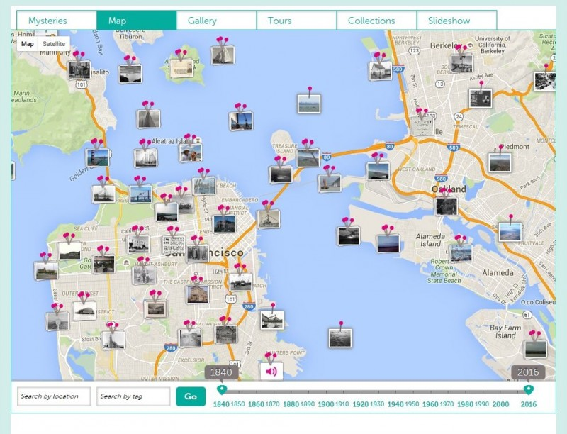Map from the Bernal Heights Year of the Bay project on Historypin.