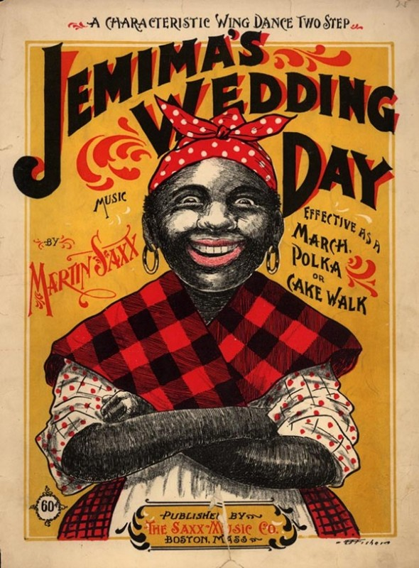 """Jemima's Wedding Day,"" 1899 sheet music cover."