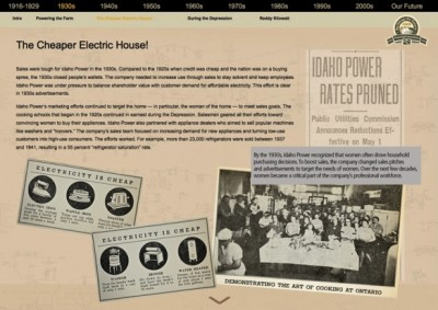 My firm recently completed a centennial history for Idaho Power Company, including a traveling exhibit and website. Image credit: Courtesy of Jennifer Stevens.