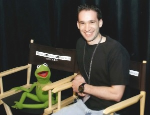 Mike Hollander with Kermit the Frog. Photo credit: Image courtesy of Mike Hollander.