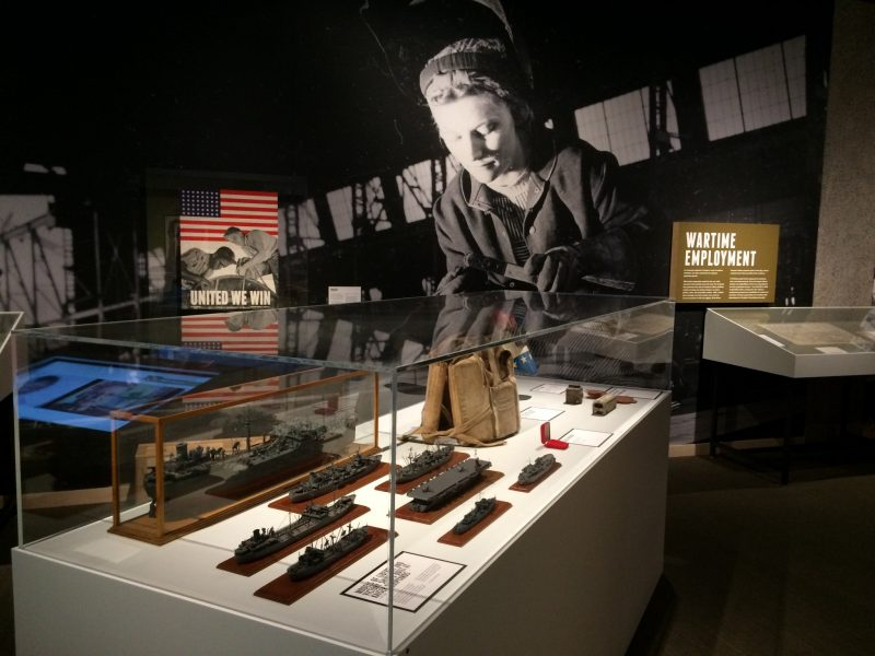 In 2015, Morgen co-curated an exhibit at the Oregon Historical Society that examined the global and statewide impacts of World War II. Image courtesy of Morgen Young.