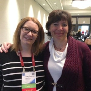 Stephanie Rowe and Susan Ferentinos, who served as Acting Director during Stephanie's recent maternity leave, at the 2016 NCPH conference in Baltimore. Photo: NCPH