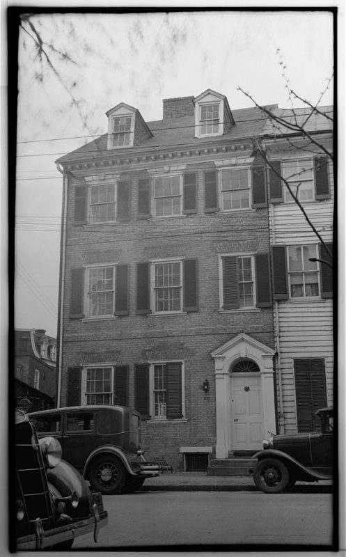 210 Prince Street House in 1933. The photo was taken for the HABS project. Historic American Buildings Survey, Creator. Colonel Michael Swope House, 210 Prince Street, Alexandria, Independent City, VA. Documentation Compiled After, 1933.