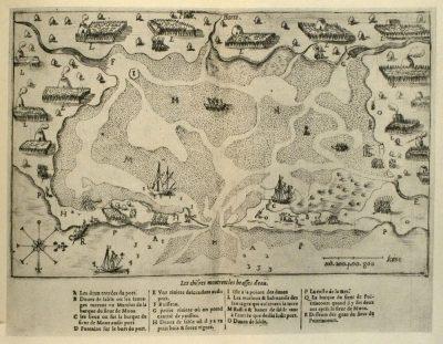 Samuel de Champlain's 1605 map of /Malle Barre/ (present day Nauset Marsh). Photo credit: National Park Service.
