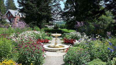 Mansion and formal garden, Marsh-Billings-Rockefeller National Historical Park. Photo credit: National Park Service.
