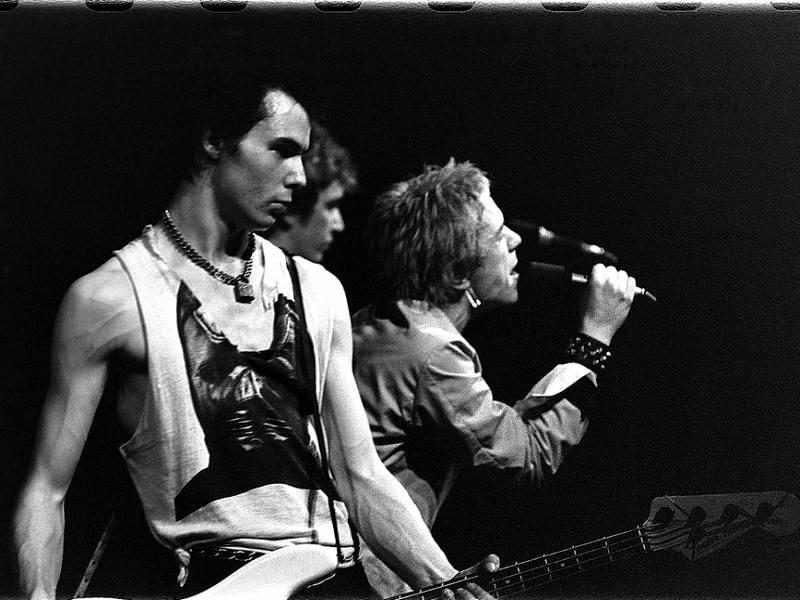 Sid Vicious, Steve Jones, and Johny Rotten of the Sex Pistols. Source: https://en.wikipedia.org/wiki/Sex_Pistols.