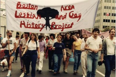 The original members of The History Project, Boston Pride, 1980. Photo credt: The History Project, Boston.