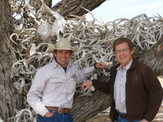 Whit Jones and Patrick Cox on the historic Jones Ranch in South Texas. Photo credit: Patrick Cox.