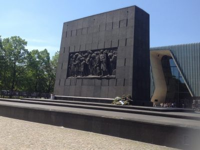 Monument to the Ghetto Heroes, Warsaw. (Photo courtesy of the author)
