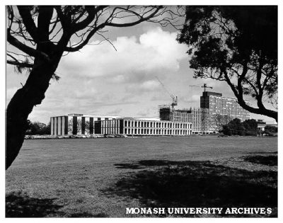 Monash University under construction, 1965.