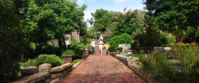 Family walking in Oakland Cemetery. Photo credit: Historic Oakland Foundation