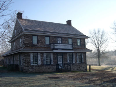 The historic Wentz house in December with a light frost, perhaps similar to how it looked when Jack ran away for the second time. Image courtesy of Montgomery County- Division of Park, Trails, & Historic Sites- December 2011.
