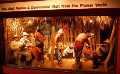 "A diorama made in collaboration with the Yaqui tribe on display at the Arizona State Museum's ""Paths of Life"" exhibit. Photo credit: JR P"